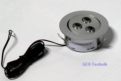 LED-Einbauleuchte Downlight 3W schwenkbar