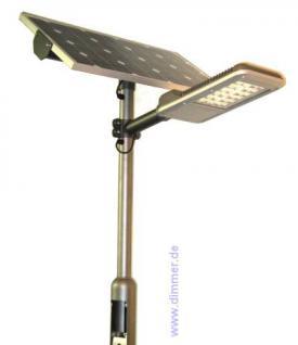 Solar Straßenleuchte LED 30W Eco 120W mit Mast - Vorschau 1