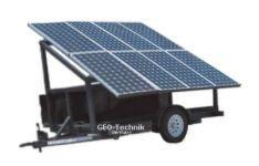 Fahrbarer Solar Strom Generator 230V 3 KVA