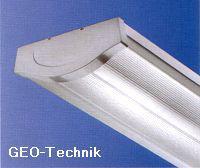 Flache Leuchtstoff-Anbauleuchte T5 mit Abdeckung 28W