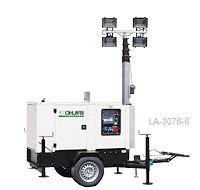 Mobiler Beleuchtungsturm 8m mit Generator und 6x300W LED
