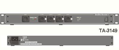 DMX-Splitter Booster GeoDim 4 fach