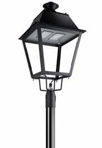 LED Mastleuchte Parklaterne Old Style mit Mast 3m