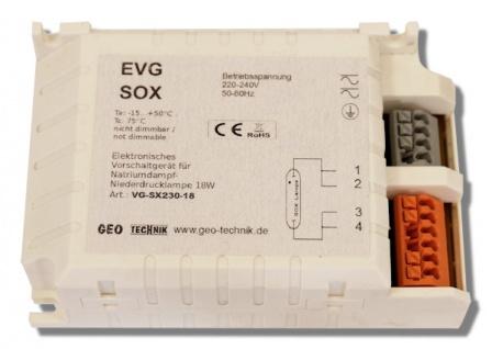 EVG Vorschaltgerät SOX 18W 230V