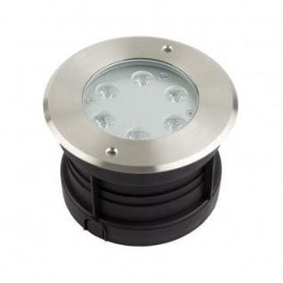 Edelstahl LED Bodeneinbaustrahler Außen 6W - Vorschau