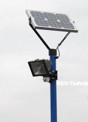 Solar Beleuchtung für Müllcontainer Müllsammellplatz