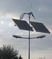 Solar Straßenleuchte Berlin mit 2 LED Leuchten + Wind