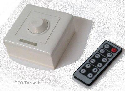 LED-Dimmer Wand 12V mit IR Fernbedienung
