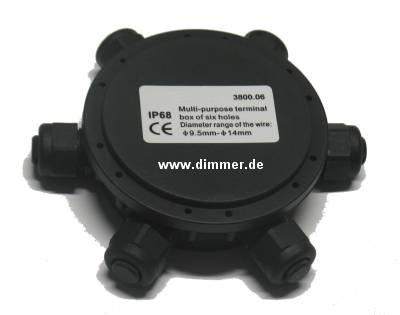 Anschlußdose für 5 Leuchten IP68