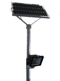 Solar Mastleuchte LED Strahler Lithium