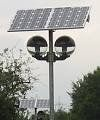 Solar Mastleuchte Globe Fußgängerzone mit Mast 2-flammig