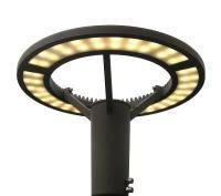Beleuchtungsmast 4m mit LED Rundleuchte Saturn
