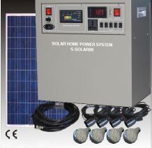 Solarbeleuchtung für kleine Schule 2x100W
