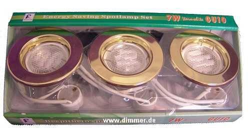 3 Stück LED Einbaustrahler-Set Downlight je 5 Watt