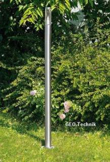 Hohe Edelstahl Wegeleuchte LED FLAMME