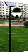 LED Solar Mastleuchte Globe 4m Mast mit Bewegungsmelder