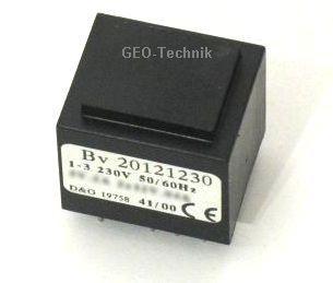 Printtrafo 1, 5VA 2x12V vergossen