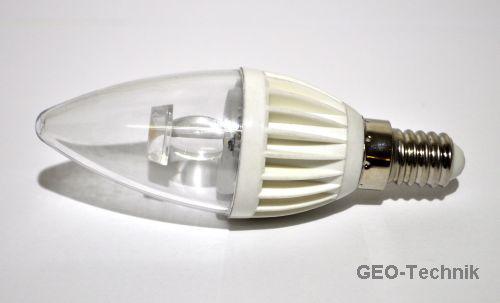 LED Kerzenlampe dimmbar E14 3W (25W)