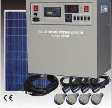 Solarbeleuchtung 6 Lampen und Strom für kleines Haus