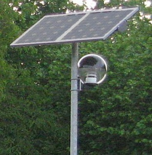 Solar Radwegeleuchte LED mit Mast Globe