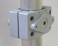 Mastbefestigung Block 60-76mm für Fluter