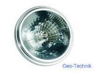 Halogen Lampe QR111 12V 75W 8° G53 + Abschatter