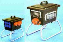 Elektro-Standverteiler 32A, 6x Schuko / FI