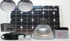 Luxus PV Solarbeleuchtung-Set Gartenhaus