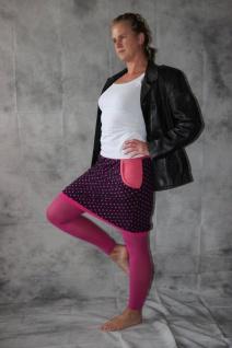 Ballonrock, Ballon-Rock, Jersey Rock mit Punkten, lila pink Gr. 36 - 44 handgefertigt - Vorschau 4