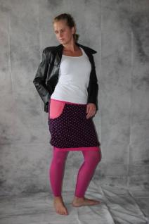 Ballonrock, Ballon-Rock, Jersey Rock mit Punkten, lila pink Gr. 36 - 44 handgefertigt - Vorschau 3