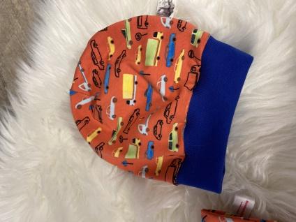 Baby Set orange Pumphose Mütze Tuch handgefertigt - Vorschau 3