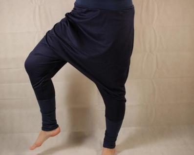 Blaue Haremshose aus Jersey Gr. 38/42 handgefertigt - Vorschau 2