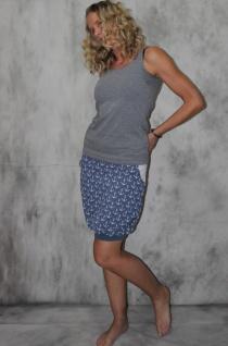Ballonrock, Ballon-Rock, blauer Jersey Rock mit Ankern Pumprock Gr. 36 - 44 handmade handgefertigt - Vorschau 1