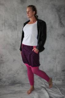 Ballonrock, Ballon-Rock, Jersey Rock mit Punkten, lila pink Gr. 36 - 44 handgefertigt - Vorschau 5