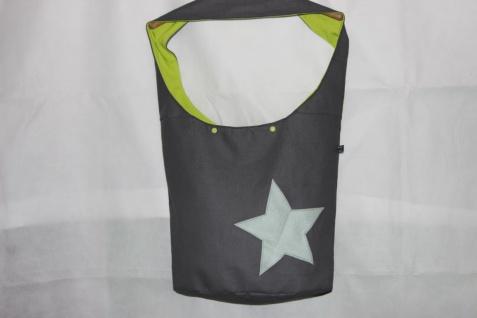 Kunstledertasche Yogatasche Tasche Yoga XXL Umhängetasche Kunstleder Stern handgefertigt