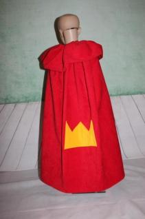 Königsumhang Königs Umhang König rot Krone Cape Kostüm handgefertigt