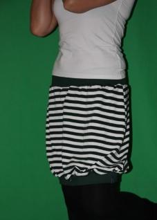 gestreifter Ballonrock Ballon-Rock grün/weiß gestreift Gr. S handgefertigt