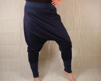 Blaue Haremshose aus Jersey Gr. 38/42 handgefertigt - Vorschau 3