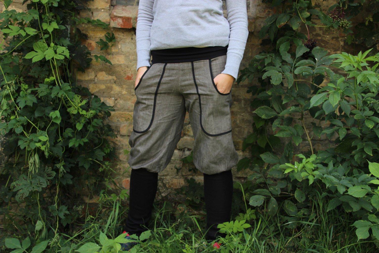 Knickerbocker, Pumphose, Jeans mit Stulpen, graue Jeanshose - Kaufen ... e3d04384fc