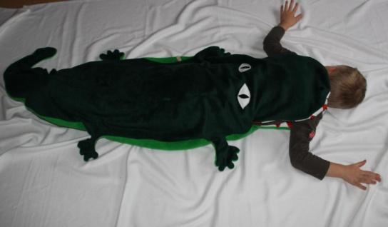Krokodil Kinder Schlafsack Alligator Strampelsack - Vorschau 3