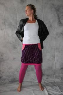 Ballonrock, Ballon-Rock, Jersey Rock mit Punkten, lila pink Gr. 36 - 44 handgefertigt - Vorschau 2