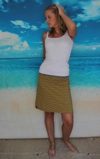 gestreifter Stretch Rock A- Form Jersey gelb/grau gestreift handgefertigt