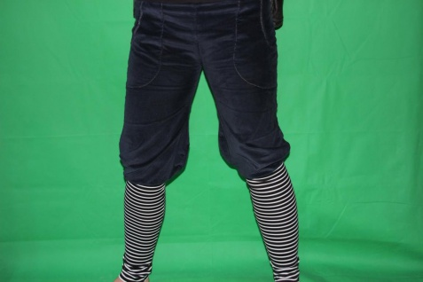 Knickerbocker Pumphose Cord gestreifte Stulpen Cordhose handgefertigt - Vorschau 5