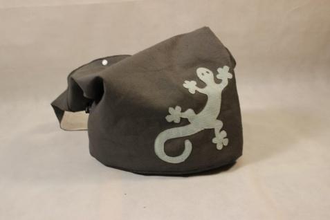 Ledertasche Yogatasche Tasche Yoga XXL Umhängetasche Kunstleder Gecko handgefertigt
