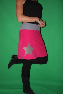 Cord Rock A- Form pinker Cordrock Stern handgefertigt