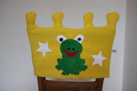 Stuhl Husse Krone Name Stuhlhusse Überwurf Frosch Kindergarten Tagesgruppe handgefertigt