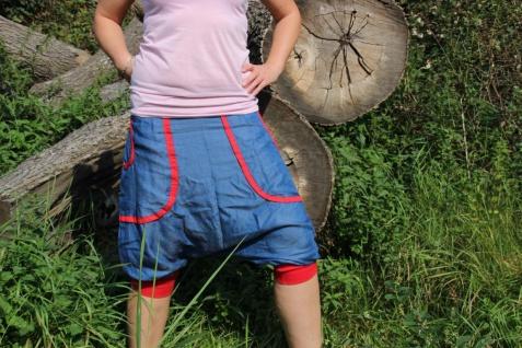 Pumphose Jeans Pluderhose Sarouel handgefertigt