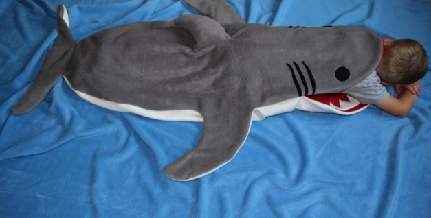 Kinder Schlafsack Hai Strampelsack handgefertigt