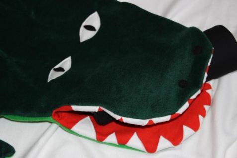 Krokodil Kinder Schlafsack Alligator Strampelsack handgefertigt