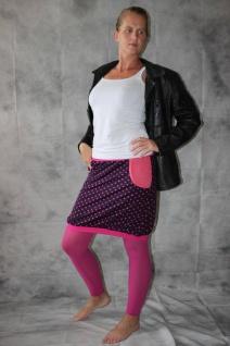 Ballonrock, Ballon-Rock, Jersey Rock mit Punkten, lila pink Gr. 36 - 44